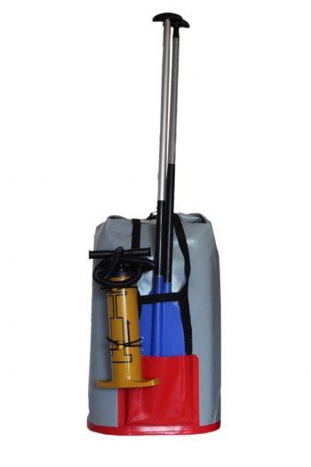Vodotěsný vak V 30x49x100/2 s kapsou na pádlo a pumpu